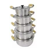 Jogo de Panelas Alumínio Fundido - 5 peças