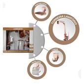Kit para Banheiro com Torneiras e Acessórios Rose Gold