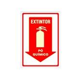Placa extintor pó quimico